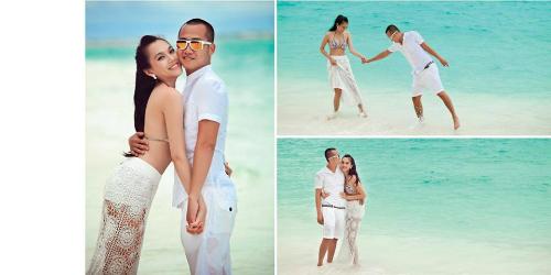 Ngọc Thạch khiến nhiều người ngưỡng mộ khi đăng tải bộ hình cưới đẹp lung linh được chụp tại đảo thiên đường Maldives.