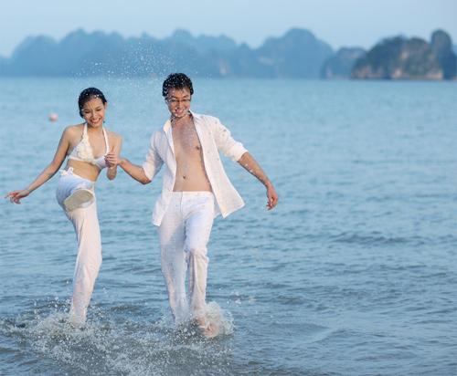 Bộ hình cưới của Thùy Lâm và chú rể Anh Tuấn được thực hiện vào năm 2010.