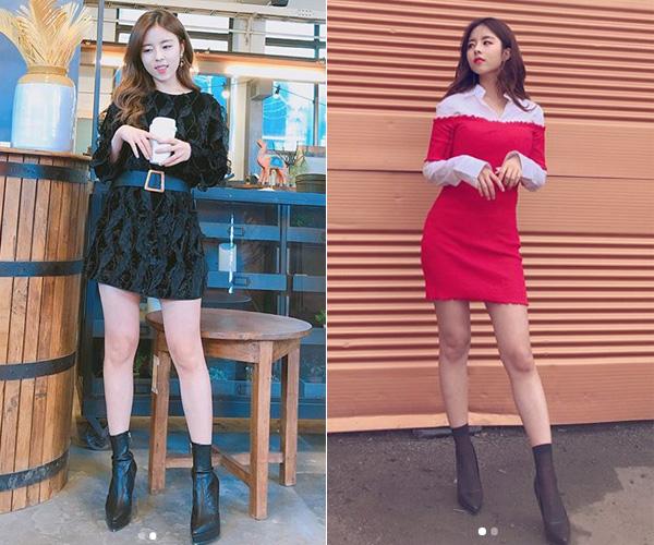 Cô nàng cũng rất khéo chọn các kiểu váy ngắn khoe chân kết hợp cùng boots cao gót trong những dịp đặc biệt để thân hình thêm cao ráo. Màu sắc, phụ kiện luôn được Do Hee tối giản hết cỡ để tránh rườm rà.