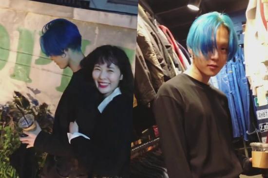 Hyun Ah hạnh phúc bên bạn trai.