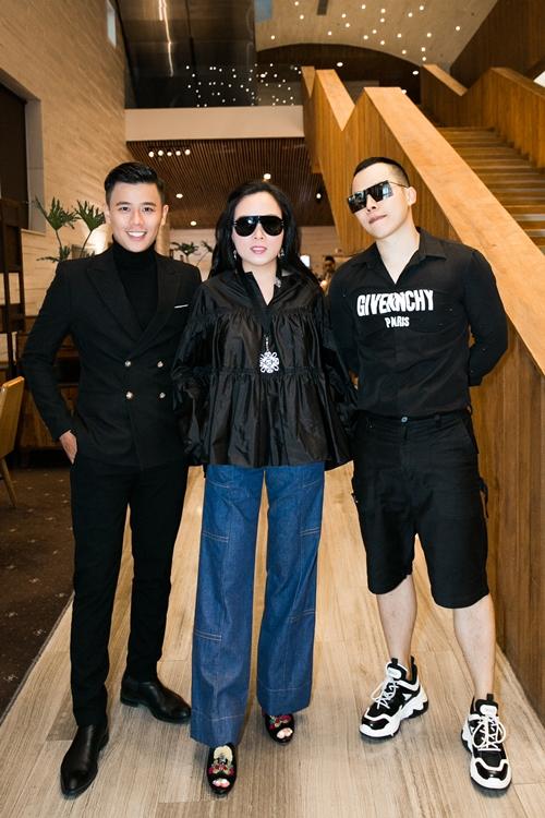 Doanh nhân Phượng Chanel, ông bầu Vũ Khắc Tiệp và MC Anh Huy.