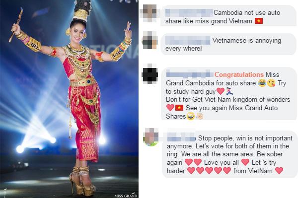 Fan Việt Nam - Campuchia khẩu chiến bằng những bình luận tiêu cực.
