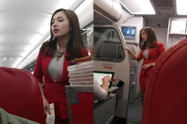 Hôm 17/10,một người dùng Facebook đăng tải hình ảnh một nữ tiếp viên mà anh tình cờ gặp trên chuyến bay của hãng hàng không Air Asia. Những hình ảnh ngay lập tức thu hút cộng đồng mạng với hàng nghìn bình luận. Đa số dành lời khen ngợi cho vẻ ngoài xinh đẹp của cô gái, nhiều người thậm chí còn đòi xin info.