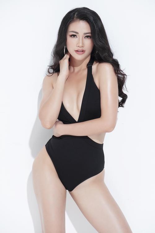 Phương Khánh tự tin về hình thể so với mặt bằng thí sinh Miss Earth năm nay.