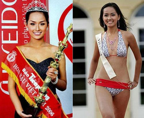 Thời điểm lên ngôi Hoa hậu, người đẹp Hà thành khá mảnh mai với chiều cao 1,79 m, cân nặng 60 kg. Số đo ba vòng86-61.5-95