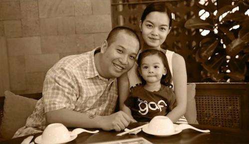 Gia đình hạnh phúc của Phạm Quỳnh Anh trước đây.