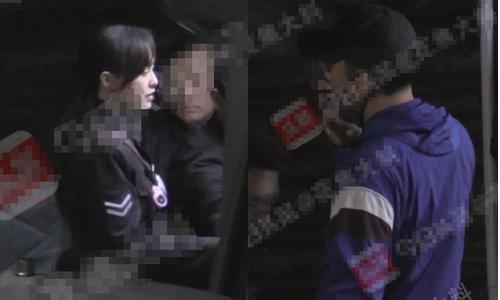 Tối 22/10 La Tấn bị paparazzi chụp ảnh đến đoàn phim ở Thượng Hải thăm Đường Yên.