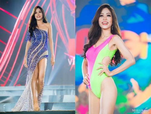 Thí sinh Bùi Phương Nga tại Hoa hậu Hòa bình Quốc tế 2018.