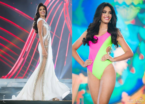 Annis Alvarez - nhan sắc đến từ Venezuela đứng thứ hai trong bảng dự đoán. Cô gái 19 tuổi sở hữu chiều cao 1m79, nặng 59 kg. Global Beauties đánh giá cao nhan sắc Mĩ Latin bởi những bước catwalk mạnh mẽ, uyển chuyển cùng thần thái quyền lực của một beauty queen.