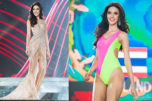 Đại diện Thái Lan sở hữu khuôn mặt sáng sân khấu, thần thái tự tin, rạng rỡ. Trước đó, cô có mặt trong top 3 dự đoán của Global Beauties. Tuy nhiên, phần trình diễn an toàn trong đêm thi Bán kết có lẽ là lý do khiến cô trượt khỏi top 5 ứng viên tiềm năng nhất.