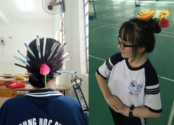 Những cây bút được dùng để cover kiểu tóc của các phi tần, cung nữ được nhận xét là ý tưởng đầy sáng tạo.