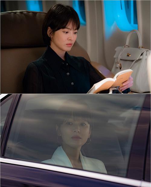 Trong bộ phim Encounter, Song Hye Kyo vào vai một  ái nữ quyền quý nên tạo hình cần sự nghiêm túc, quyền lực. Mái tóc ngắn là sự lựa chọn phù hợp để tạo nên hình tượng mạnh mẽ cho vai diễn.