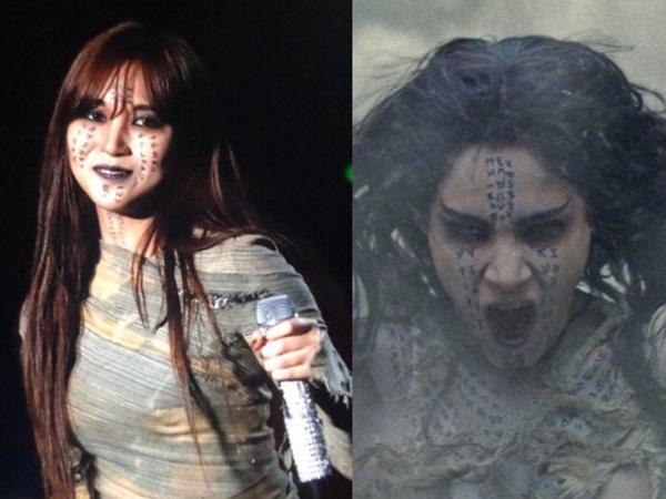 Mina cũng chịu chơi không kém khi hóa thân thành nữ hoàng xác ướp trong The Mummy (2017).