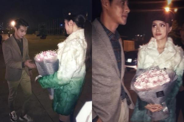 Hình ảnh dấy nên tin đồn Hương Giang được cầu hôn.