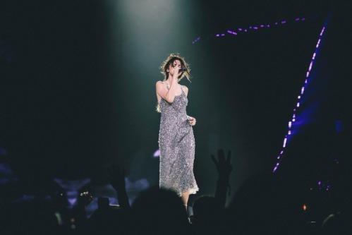 Tuy nhiên, theo nhiều khán giả, chiếc đầm mà Tâm Tít diện tại Tuần lễ Thời trang Quốc tế Việt Nam có nhiều điểm tương đồng với mẫu đầm mà Selena Gomez đã từng diện cách đây 2 năm tại tour diễn Revival. Thiết kế mà tình cũ Justin Bieber mặc là sản phẩm của nhà mốt Giorgio Armani.