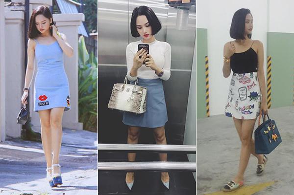 So với thời còn để tóc bob, gắn liền với những bộ váy đơn giản nhưng thanh lịch, nữ tính, đặc biệt là dát đầy hàng hiệu sang chảnh, Miu Lê của thời điểm hiện tại trông kém xinh hơn hẳn.