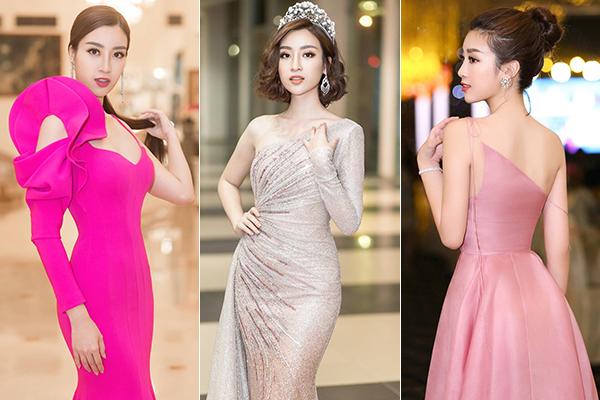 Thay vì cố gồng mình high fashion, Mỹ Linh cứ giữ nguyên phong cách nữ tính, nhẹ nhàng với những bộ đầm dạ hội như từ trước đến nay là đã đủ nhận được những lời khen ngợi vì vẻ mong manh, xinh đẹp.