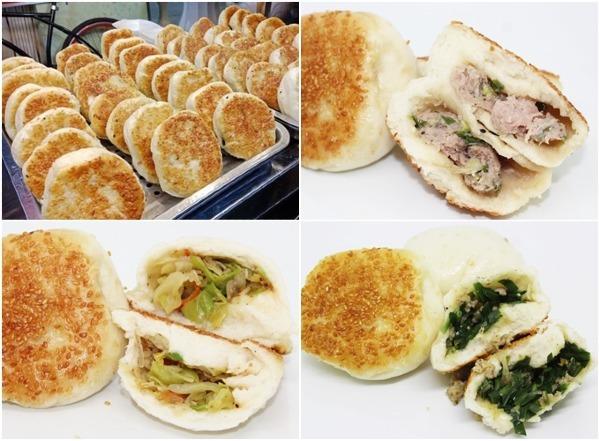 Nước sôi sẽ hấp chín vỏ bánh và nhân, sau khoảng 10 phút sẽ bốc hơi hết, và bánh tiếp tục được chiên giòn với lớp dầu cho đến khi vỏ bánh vàng giòn. Bánh được vớt ra và để trên một khay hấp cách thủy để giữ cho bánh luôn nóng hổi mà vẫn giòn ngon. Nhân bánh có 3 loại là thịt bằm, rau hoặc hẹ, thường ăn kèm với tương ớt để giữ vị cay nóng hấp dẫn. Bánh xuất xứtừ Đài Loan nên hiện đượcbán khá nhiều ở khu vực sinh sống của cộng đồng người Hoa tại TP.HCM.