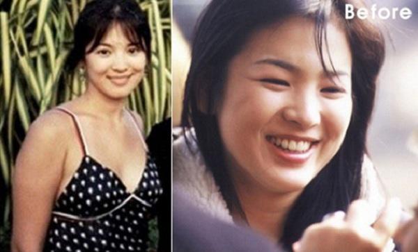 Ít ai biết rằng, nữ thần nhan sắc Song Hye Kyo cũng có thời điểmsở hữu body hơi mũm mĩm, lên đến 70kg.