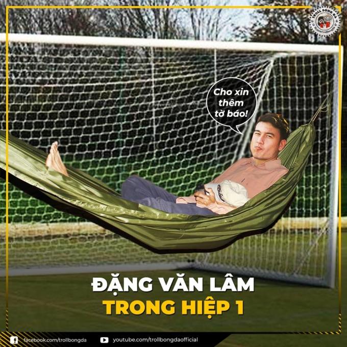 <p> Các thánh chế không bỏ qua cơ hội giúp thủ môn của Việt Nam có cơ hội mắc võng nghỉ ngơi cho hết cả hiệp 1.</p>