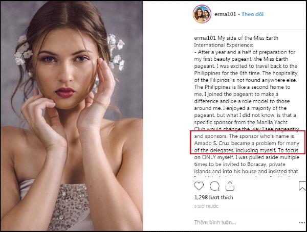 Bài đăng chỉ đích danh tên nhà tài trợ của Hoa hậu Guam.