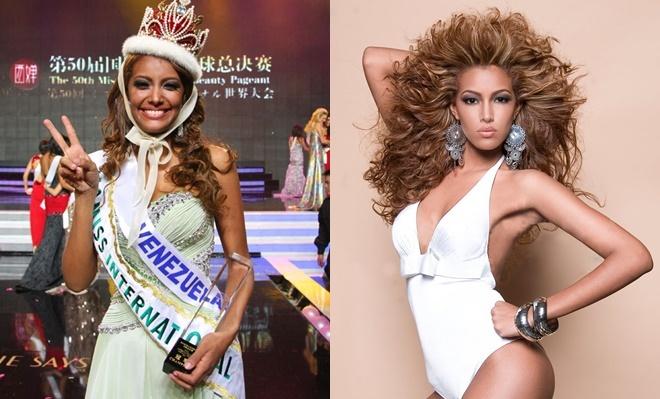 <p> <strong>Elizabeth Mosquera - Hoa hậu Quốc tế 2010</strong><br /><br /> Elizabeth Mosquera là nhan sắc Venezuela thứ sáu đăng quang Miss International. Khi ấy, cô 19 tuổi, cao 1,77m, số đo ba vòng là 89-58-89, theo học ngành kỹ sư dân dụng. Cuộc sống đời tư của người đẹp sinh năm 1991 khá kín tiếng. Truyền thông không nhắc nhiều đến cô.</p>