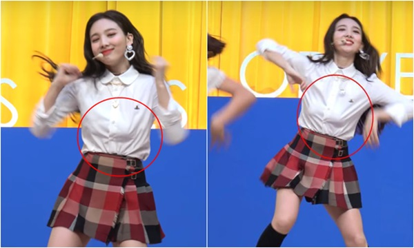 Na Yeon gặp sự cố trang phục.
