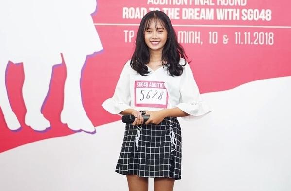 Thí sinh Nguyễn Quế Minh Hân (SBD 5628) hào hứng chia sẻ: Dù có một sai sót nhỏ nhưng em vẫn khá ưng ý với màn trình diễn của mình và mong có cơ hội trở thành một phần của SGO48.