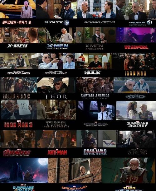 Stan Lee từng làm cameo trong nhiều bộ phim được chuyển thể từ các bộ truyệnông sáng tác.