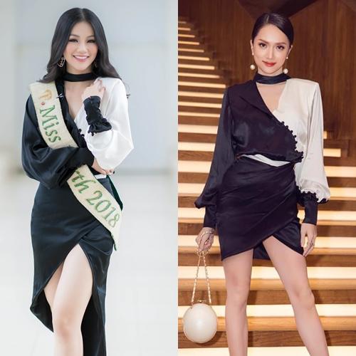 Phương Khánh - Hương Giang đẹp bất phân thắng bại khi mặc chung váy.