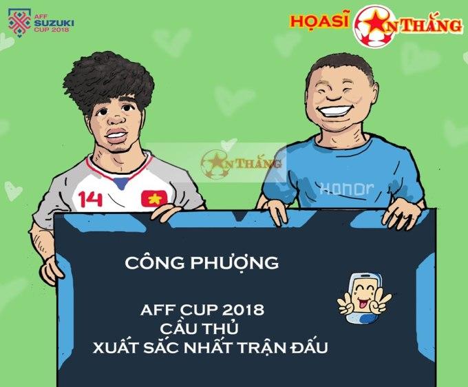 """<p> Chân sút người Nghệ An được<a href=""""https://ione.vnexpress.net/tin-tuc/nhip-song/hong/cau-thu-viet-nam-duy-nhat-lot-vao-doi-hinh-tieu-bieu-luot-mo-man-aff-cup-3839349.html""""> chuyên trang bóng đá</a> hàng đầu châu Á ca ngợi """"chỉ cần 11 phút để phá vỡ thế bế tắc với một cú sút không thể cản phá"""". Anh được bình chọn là cầu thủ chơi hay nhất trận.</p>"""