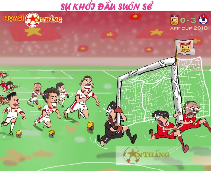 <p> Ở AFF Cup 2018, Việt Nam có chiến thắng áp đảo Lào với tỷ số 3-0 ngay trận ra quân.</p>