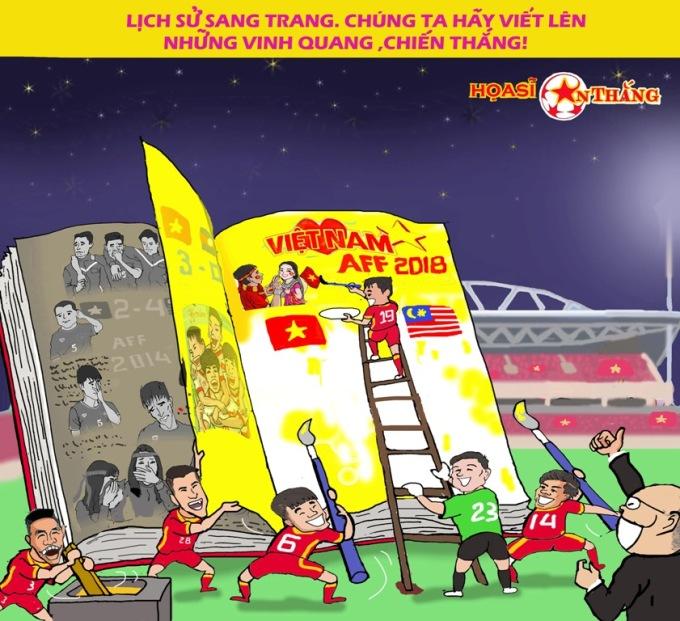<p> Trang sử mới của bóng đá Việt Nam đang được viết nên.</p>