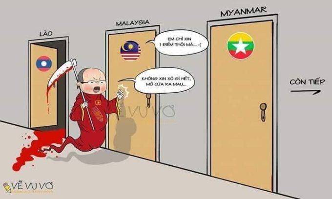 <p> Việt Nam nào có sợ Malaysia đâu, Việt Nam còn sợ vô địch đây này... thẳng tiến nhé các chàng trai.</p>