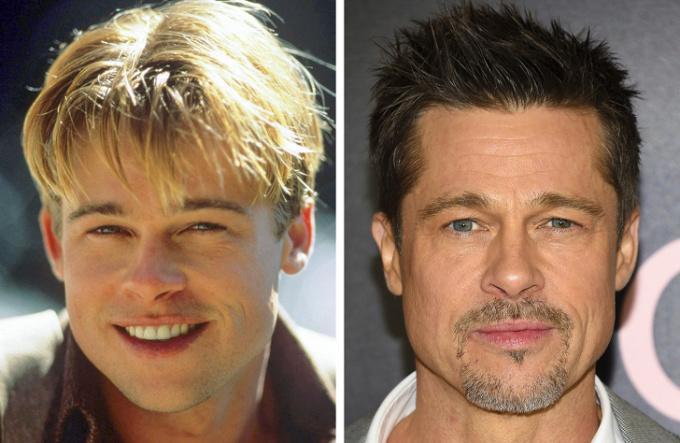 """<p> Brad Pitt, từ """"chàng thơ"""" lãng tử trong những phim như <em>Dallas, Too Young to Die?</em>,… đến quý ông """"đầu 5"""" phong độ.</p>"""