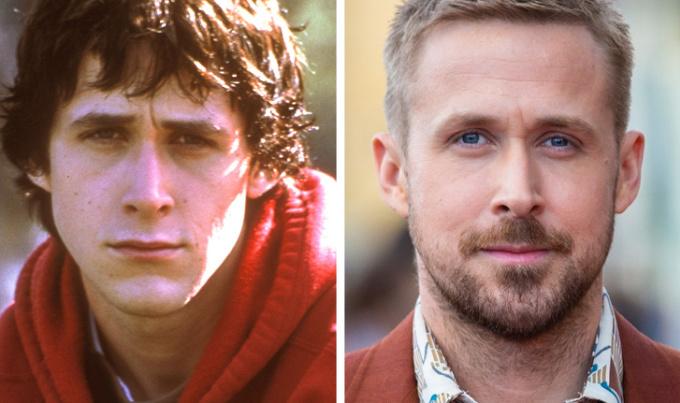 """<p> Chàng Sebastian quyến rũ trong <em>La La Land</em> từng là một thanh niên cô đơn, lầm lỳ. Chỉ khi bước chân vào làng nghệ thuật, Ryan Gosling mới được """"là chính mình"""". Sau này, ngoại hình của anh cũng được nâng lên nhiều phần, trở thành soái ca trong những bộ phim tình cảm Hollywood.</p>"""