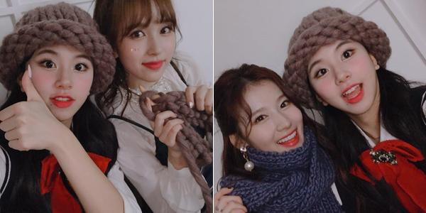 Mina khéo tay hay làm, tỉ mẩn đan mũ len và khăn len cho Chae Young, Sana.