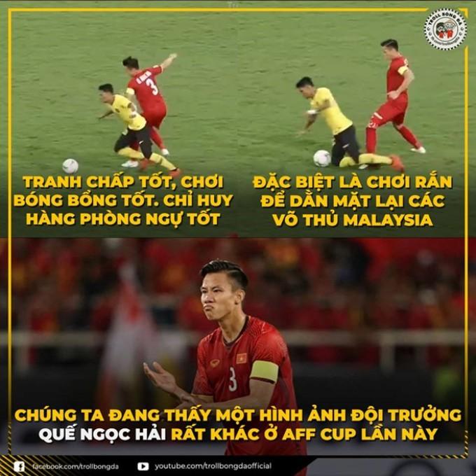 """<p> Hải """"Ramos"""" là biệt danh mà fan dùng để gọi Quế Ngọc Hải. Cái tên bắt nguồn từ sự tương đồng thú vị giữa đội phó đội tuyển Việt Nam và hậu vệ Sergio Ramos. Cả hai có kiểu tóc giống nhau, và hậu vệ người Tây Ban Nha cũng là thần tượng của Quế Ngọc Hải.</p>"""