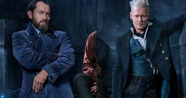 Giáo sư Dumbledore (trái) thời trẻ và bạn thân Grindelwald.