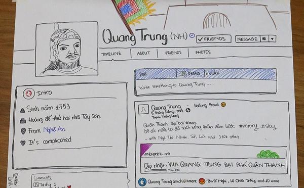 Vua Quang Trung mà chơi phây thì sẽ như thế này đây. Ảnh: Trường người ta
