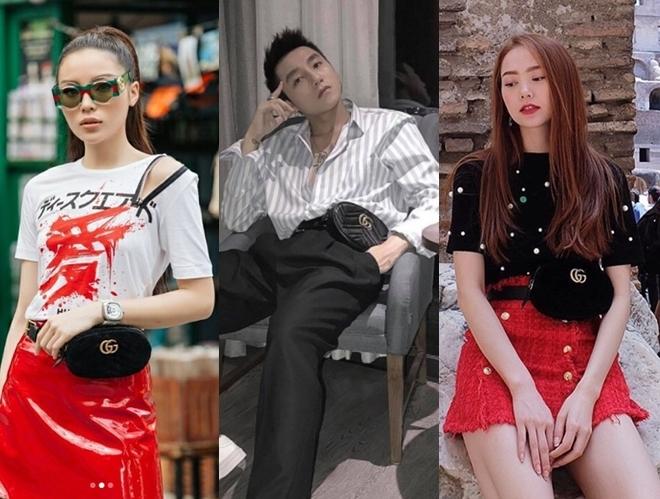 <p> Túi đeo ngang hông của Gucci có giá hơn 23 triệu đồng được Sơn Tùng mix & match chẳng kém cạnh Kỳ Duyên, Minh Hằng.</p>