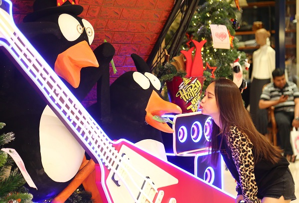 Những hình ảnh siêu đáng yêu của những chú chim cánh cụtthu hút nhiều bạn trẻ đến tạo dáng chụp hình