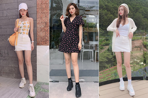 Style gọn gàng mà vẫn nổi bật của cô nàng là gợi ý lý tưởng cho những cô nàng mảnh mai, không có chiều cao chuẩn.