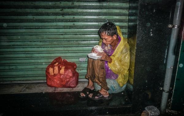 Bức ảnh gây xúc động của Quang Huy.