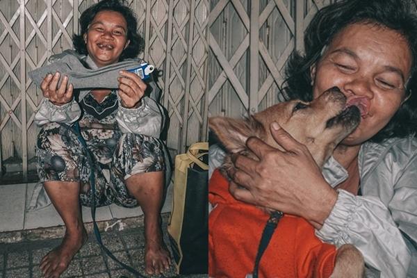 Niềm vui của những người vô gia cư khi nhận được những món quà nhỏ.