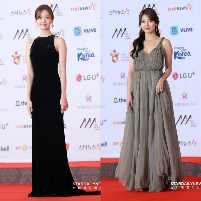 <p> Chiều 28/11, thảm đỏ lễ trao giải Asia Artist Awards 2018 diễn ra tại Incheon, Hàn Quốc. Hai sao nữ nổi bật nhất là Yoon Ah và Suzy.</p>