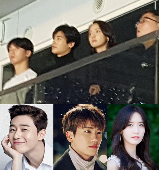 Trước đó, Yoon Ah gây tò mò khi đi cùng Park Seo Joon, Park Hyun Sik đến xem concert của BTS. Bộ ba là bạn thân của anh chàng V.