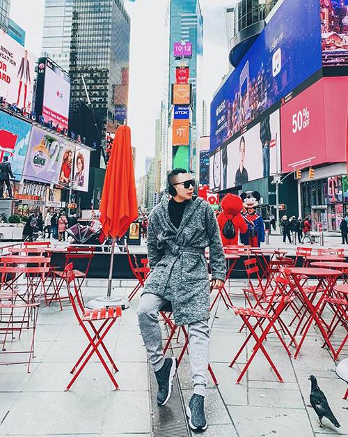 Vũ Khắc Tiệp tự thưởng một chuyến du lịch New York để thư giãn trước khi bắt tay vào những công việc bận rộn.