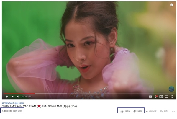 MV mới của Chi Pu nhận triệu view dù bị phản ứng.