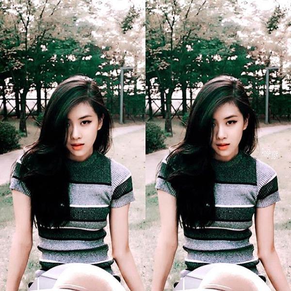 Những bức ảnh của Rosé thời còn là thực tập sinh của YG đã chứng tỏ cô rất hợp với phong cách mạnh mẽ kiểu bad girl.